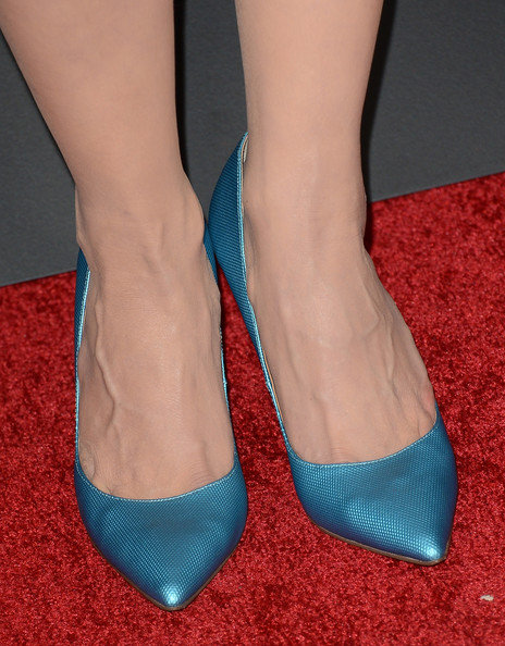 Michelle Forbes Pumps [game of thrones,season,footwear,shoe,human leg,high heels,leg,turquoise,teal,ankle,foot,electric blue,arrivals,michelle forbes,california,hollywood,tcl chinese theatre,hbo,premiere,premiere]