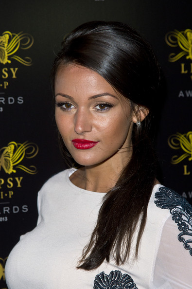 Michelle Keegan Red Lipstick