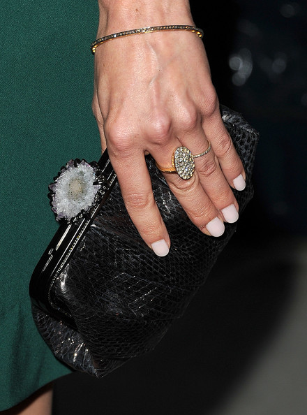 Michelle Monaghan Diamond Bracelet [machine gun preacher,nail,finger,manicure,hand,ring,nail care,nail polish,engagement ring,silver,fashion accessory,arrivals,relativity,michelle monaghan,los angeles,beverly hills,california,academy of television arts sciences,premiere,premiere]