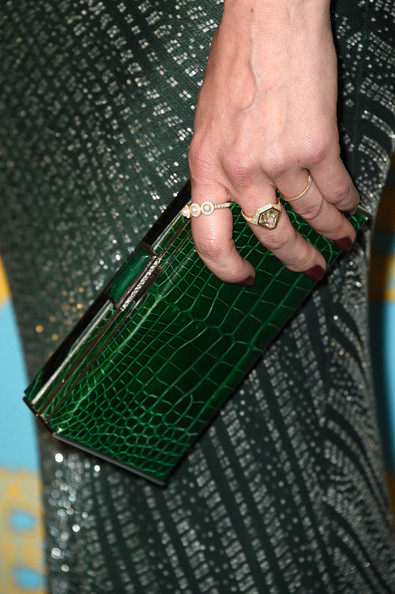 Michelle Monaghan Leather Clutch