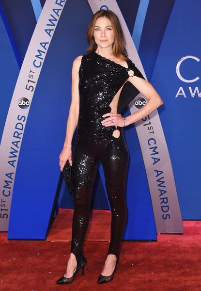 Michelle Monaghan Evening Pumps [image,flooring,fashion model,carpet,leg,electric blue,fashion,latex clothing,red carpet,thigh,tights,arrivals,michelle monaghan,cma awards,carpet,flooring,fashion model,leg,bridgestone arena,tennessee,michelle monaghan,51st annual country music association awards,bridgestone arena,the 51st annual cma awards,country music association awards,actor,photograph,red carpet,image,carrie underwood]