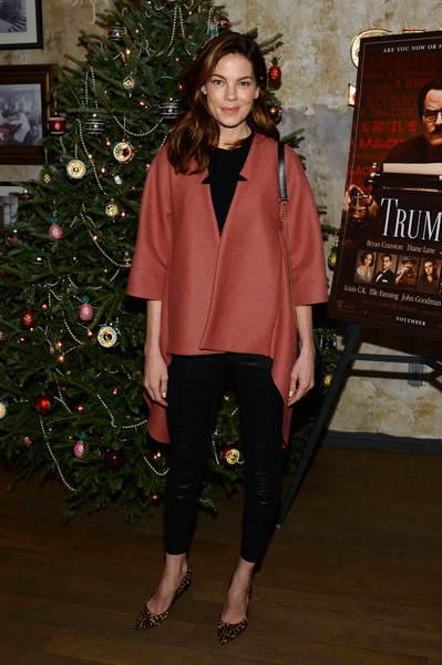 Michelle Monaghan Swing Jacket [michelle monaghan,bryan cranston,clothing,fashion,outerwear,fashion show,winter,event,christmas,christmas eve,christmas decoration,christmas tree,a celebration,celebration,house of elyx,new york city]