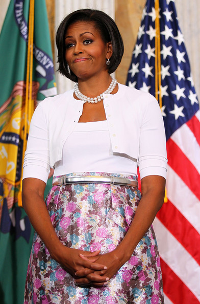 Michelle Obama Metallic Belt