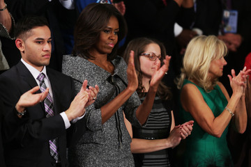 Michelle Obama Jill Biden Barack Obama Delivers State of the Union Address