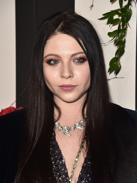 Michelle Trachtenberg Long Straight Cut [hair,face,eyebrow,hairstyle,lip,black hair,beauty,long hair,chin,brown hair,land,land,chateau marmont,los angeles,california,red carpet,distraction launch event,michelle trachtenberg]