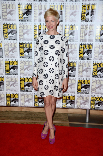 Michelle Williams Print Dress