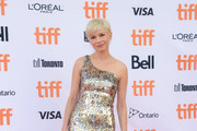 Michelle Williams One Shoulder Dress