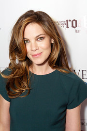 Michelle Monaghan looked chic at the Michigan Avenue Magazine winter issue party wearing her hair in tousled waves.