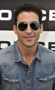 Miguel Angel Silvestre looked oh-so-handsome in his aviators.