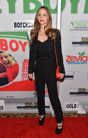 Eliza Dushku opted for a basic black pantsuit when she attended the screening of 'MikeyBoy the Movie.'