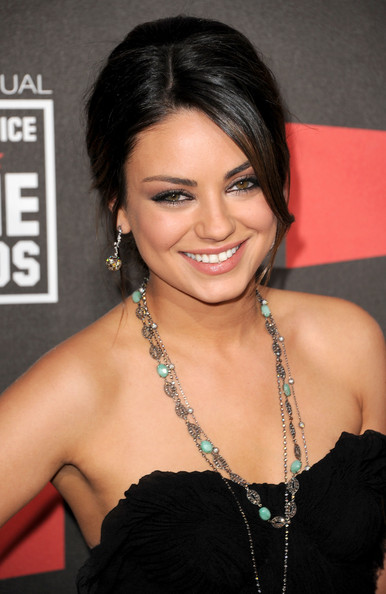 Mila Kunis Layered Diamond Necklace