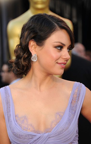 Mila Kunis Pinned Up Ringlets