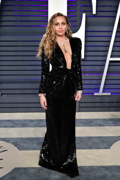 Miley Cyrus Sequin Dress