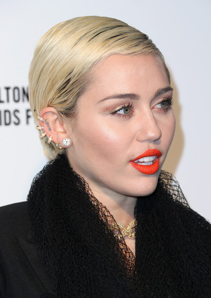 Miley Cyrus Diamond Hoops