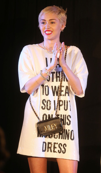 Miley Cyrus Chain Strap Bag [daily front row,fashion,talent show,performance,event,fashion design,miley cyrus,fashion los angeles awards,front row,west hollywood,california,sunset tower hotel]