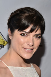 Selma Blair attended the Milk + Bookies Story Time celebration wearing this charming braided updo.
