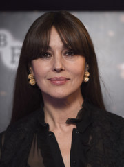 Monica Bellucci sported her signature parted bangs at the BFI London Film Festival screening of 'On the Milky Road.'