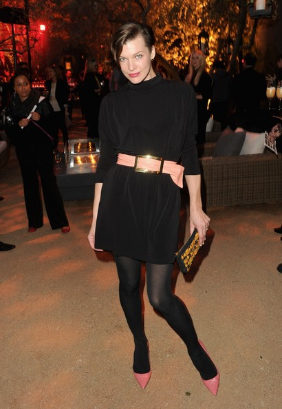 Milla Jovovich Little Black Dress