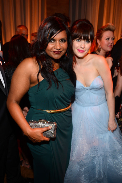 Mindy Kaling Sequined Clutch [hair,woman,beauty,lady,girl,fun,fashion,hairstyle,event,dress,zooey deschanel,mindy kaling,fx post emmy party,los angeles,california,fox broadcasting company,twentieth century fox television,fx,party,emmy]