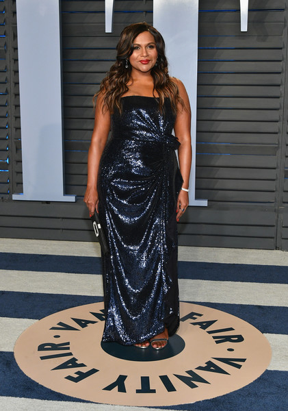Mindy Kaling Strapless Dress
