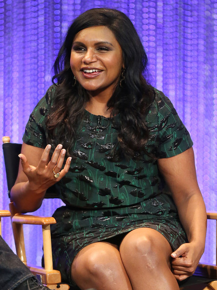 Mindy Kaling Gemstone Ring [the mindy project,paleyfest 2014 honoring the mindy project,thigh,leg,sitting,human body,abdomen,talent show,trunk,black hair,performance,mindy kaling,dolby theatre,california,hollywood,paley center for media,executive producer,paleyfest 2014]
