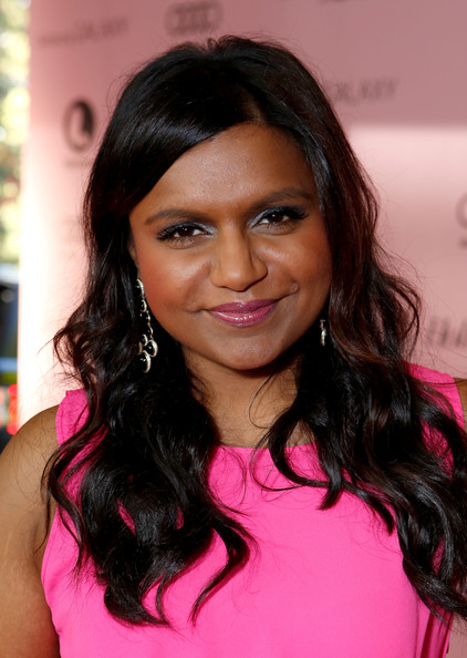 Mindy Kaling Long Wavy Cut [red carpet,the hollywood reporter,power 100: women in entertainment breakfast,hair,hairstyle,eyebrow,lip,black hair,beauty,long hair,chin,forehead,hair coloring,mindy kaling,beverly hills hotel,california,hollywood reporter,power 100: women in entertainment]