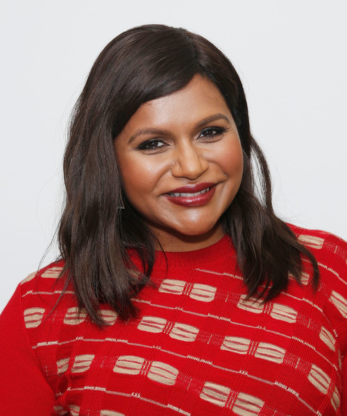 Mindy Kaling Long Wavy Cut [the academy of motion picture arts and sciences,late night,hair,hairstyle,eyebrow,lip,forehead,black hair,smile,neck,long hair,photo shoot,mindy kaling,producer,writer,celeste bartos theater,screening,new york city,academy of motion picture arts sciences official academy screening of late night,academy]