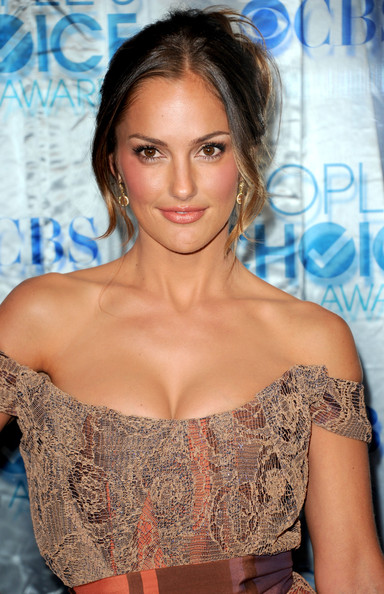 Minka Kelly Loose Bun