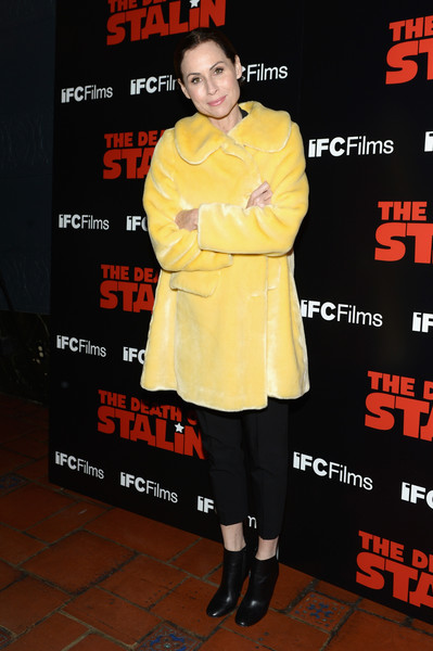 Minnie Driver Ankle Boots [the death of stalin,premiere,outerwear,event,flooring,arrivals,minnie driver,los angeles,ace hotel,california,the theatre,ifc films,premiere,premiere]