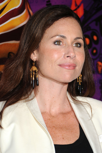 Minnie Driver Gold Chandelier Earrings