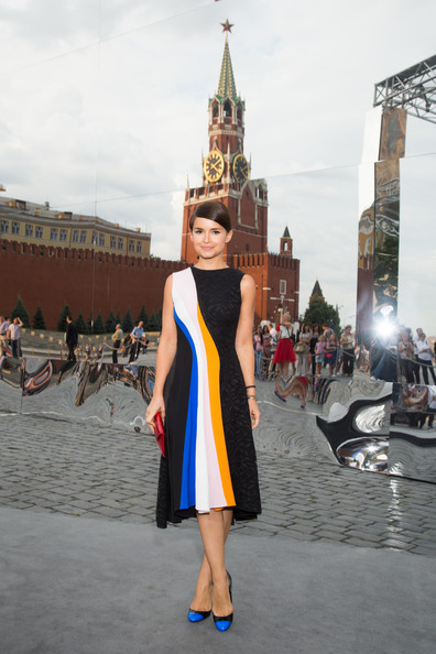 Miroslava Duma Pumps [white,yellow,fashion,dress,snapshot,beauty,street fashion,tourism,vacation,architecture,miroslava duma,moscow dior show - cocktail,dior a/w,moscow,russia,red square,show]