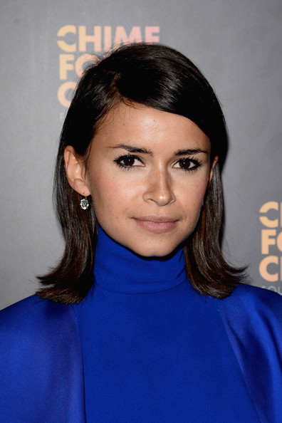 Miroslava Duma Medium Straight Cut [chime for change: the sound of change live,chime for change: the sound of change live concert,blue,eyebrow,beauty,hairstyle,chin,fashion model,forehead,electric blue,black hair,neck,royal box arrivals,frida giannini,miroslava duma,for change,royal box,gucci,committee,photo wall]