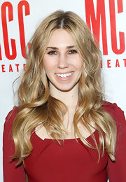 Zosia Mamet traded in her brown locks for these golden waves, which she sported at Miscast 2013.