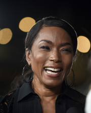 Angela Bassett pulled her hair back into a low ponytail for the US premiere of 'Mission: Impossible — Fallout.'