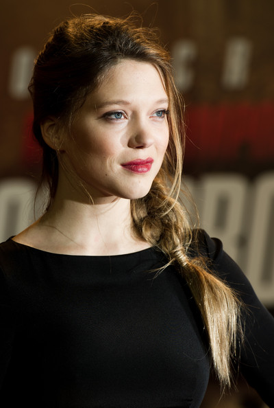 More Pics of Lea Seydoux Gemstone Inlaid Clutch (1 of 21) - Lea Seydoux Lookbook - StyleBistro [mission: impossible ghost protocol,hair,face,hairstyle,beauty,lady,lip,chin,long hair,brown hair,shoulder,lea seydoux,uk,england,london,bfi imax,premiere]