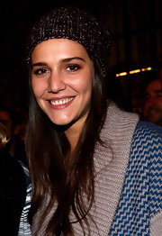 Margherita Missoni topped off her cozy ensemble with a knit beanie at the Missoni menswear collection cocktail party.