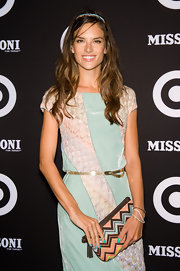 Alessandra matched her nails to her dress at the Target launch.