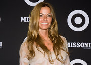 Kelly Bensimon went for an ultra casual look at the Missoni for Target collection launch. Her long locks were parted down the center, brushed and then tousled. No styling products are needed to recreate this natural effect.