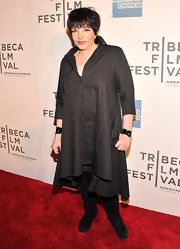 Liz Minnelli chose an all black look while at the 'Mistaken for Strangers' premiere in NYC.