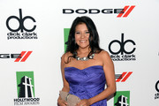 Misty Upham Strapless Dress