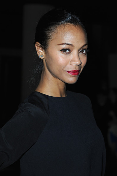 More Pics of Zoe Saldana Red Lipstick (1 of 14) - Red Lipstick Lookbook - StyleBistro