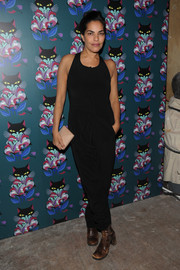 Sarita Choudhury donned a simple black jumpsuit for the 'Spark & Light' screening.