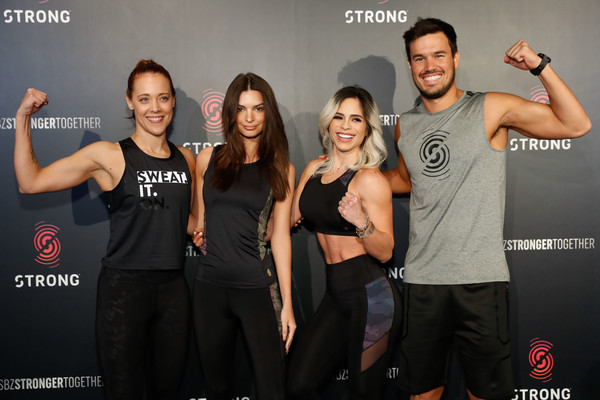 More Pics of Emily Ratajkowski Tank Top (7 of 9) - Tank Top Lookbook - StyleBistro [workout class with fitness superstar and sbz master trainer,event,muscle,performance,premiere,actress,entrepreneur,emily ratajkowski,michelle lewin,actress,model,attends strong,new york city,zumba high,boxing glove,public relations,boxing,glove,socialite,physical fitness,celebrity,flooring,public]