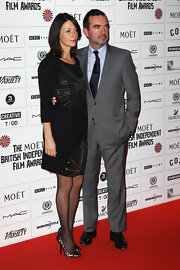 Polka-dot pumps were a playful footwear choice for Mary McCartney at The Moet British Independent Film Awards in London.