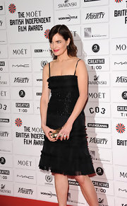 Elizabeth McGovern looked breathtaking in an embellished LBD at the Moet British Independent Film Awards.