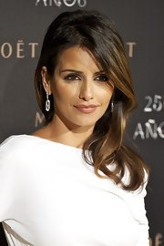 Monica Cruz wore a rich and creamy caramel lipstick at the Moet Chandon 250th Anniversary Party in Madrid, Spain.