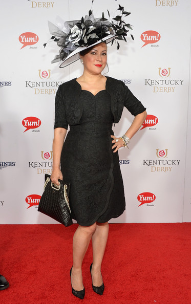 Jennifer Tilly looked very sophisticated in a textured LBD with a matching bolero at the Kentucky Derby Moet & Chandon toast.