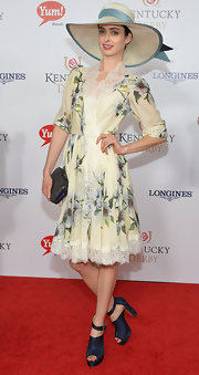 Krysten Ritter looked darling in her lace and floral dress at the Kentucky Derby Moet & Chandon toast.
