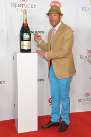 Bode Miller brightened up the Kentucky Derby red carpet with his pastel blue pants.