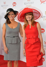 Jane Seymour looked very sweet in her red peplum dress at the Kentucky Derby Moet & Chandon toast.